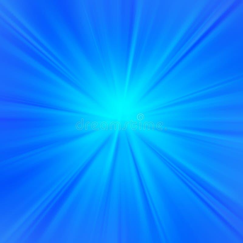 背景蓝色光芒 向量例证
