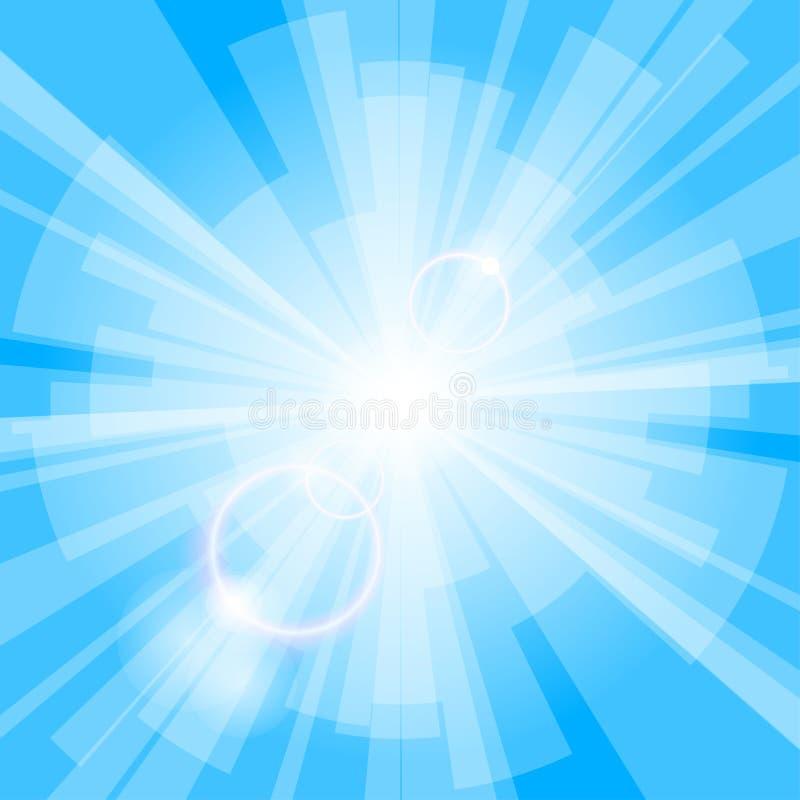 背景蓝色光 向量例证