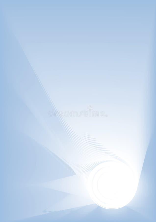 背景蓝色光 库存例证