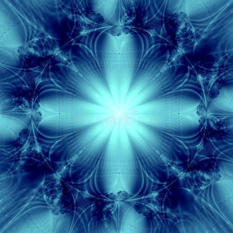 背景蓝色典雅的星形 库存例证