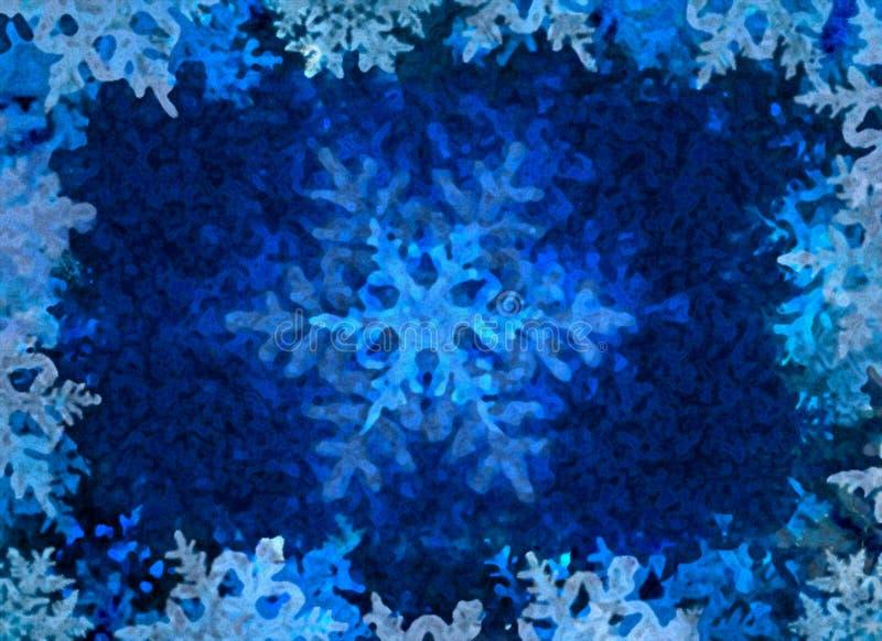 背景蓝色冰冬天 向量例证