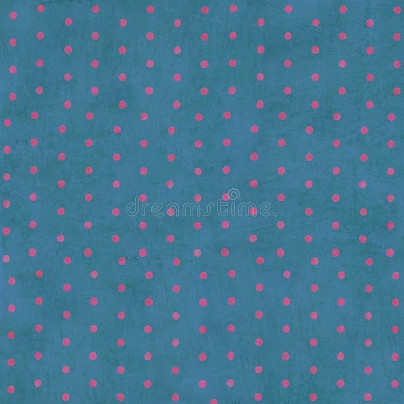 背景蓝色加点grunge粉红色 免版税库存照片