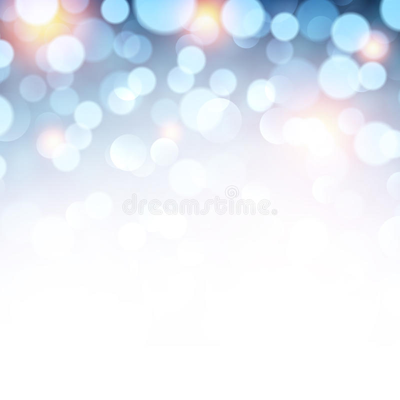 背景蓝色圣诞灯 向量例证
