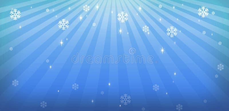 背景蓝色圣诞灯 皇族释放例证