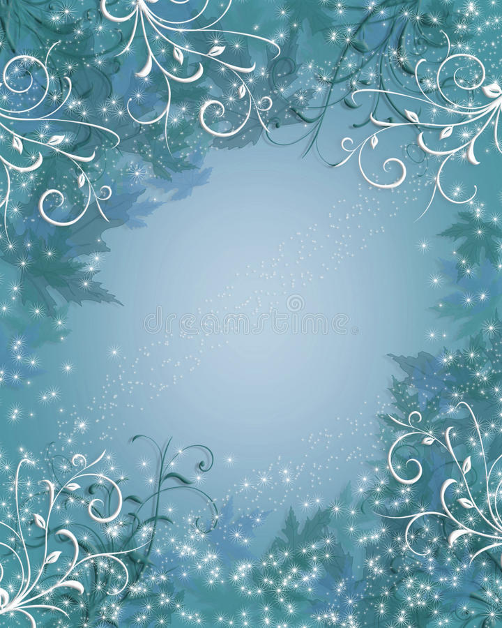 背景蓝色圣诞节闪闪发光冬天 库存例证