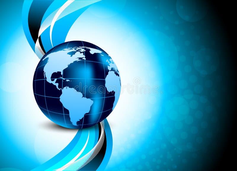 背景蓝色地球 向量例证