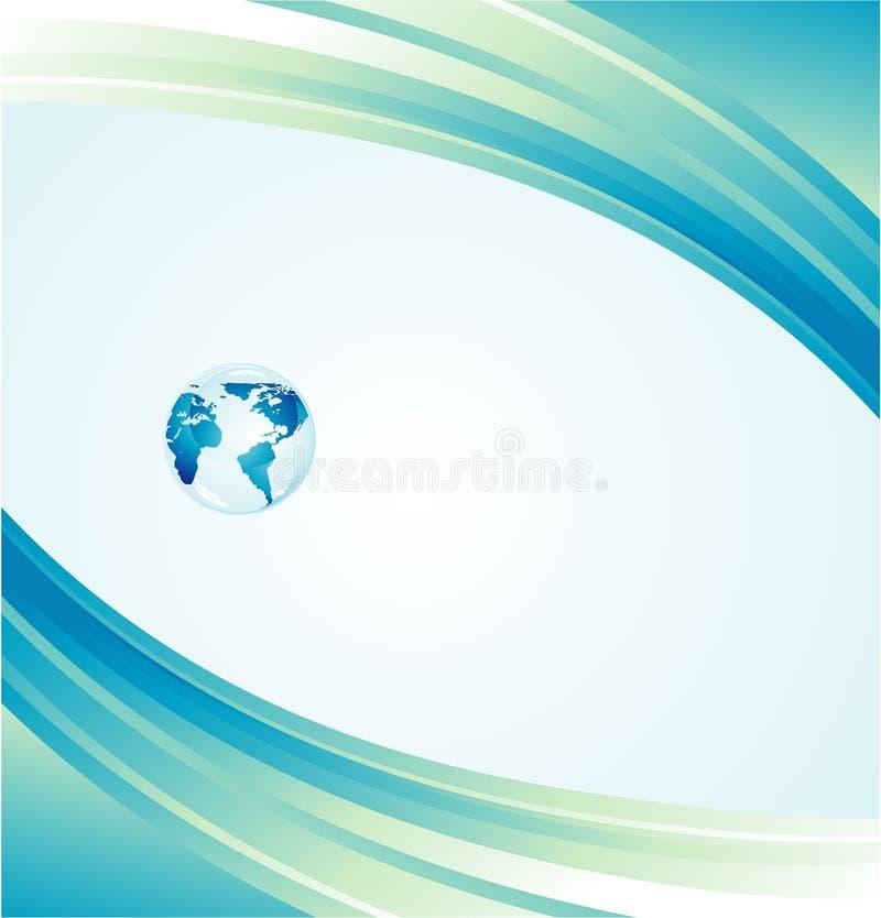 背景蓝色地球 库存例证