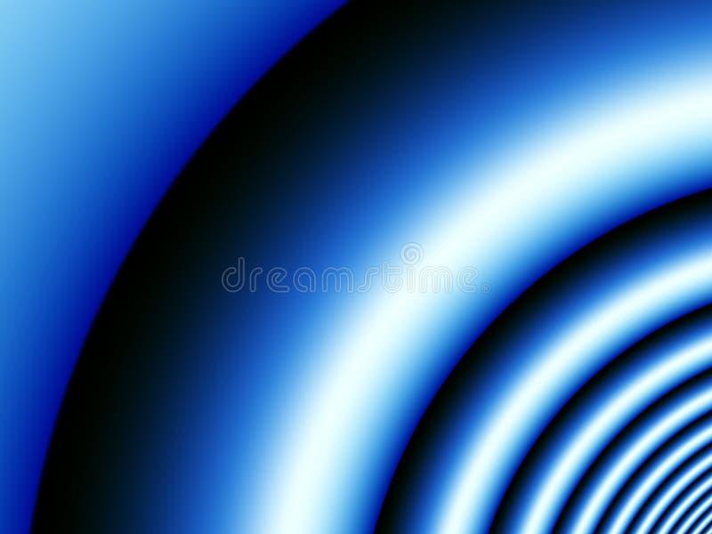 背景蓝色声波 库存例证