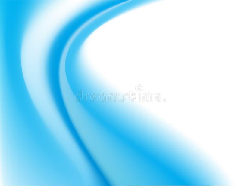 背景蓝色曲线 库存例证