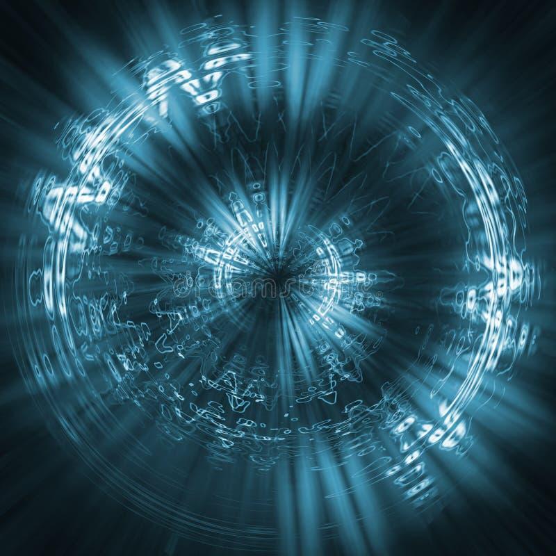 背景蓝色未来派 向量例证
