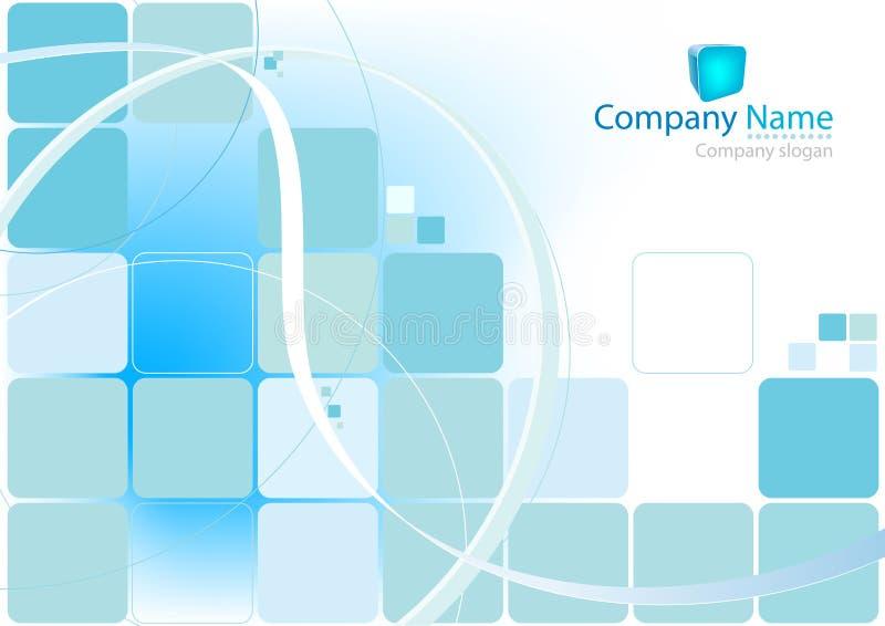 背景蓝色正方形 库存例证