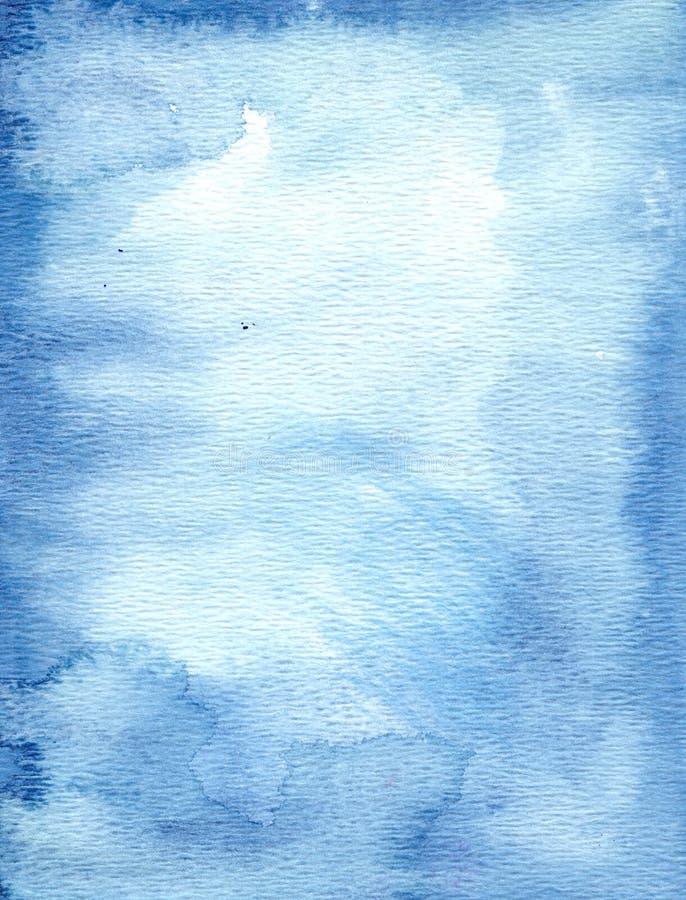背景蓝色水彩 库存图片