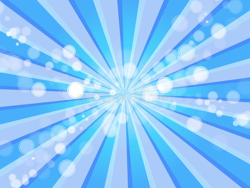 背景蓝色泡影氧气光芒 皇族释放例证