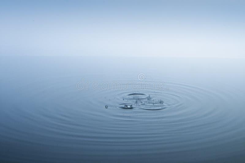 背景蓝色波纹水 免版税库存图片