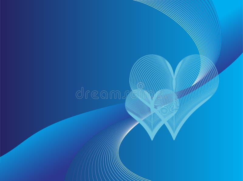 背景蓝色浪漫 向量例证