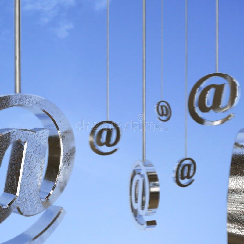 背景蓝色电子邮件符号