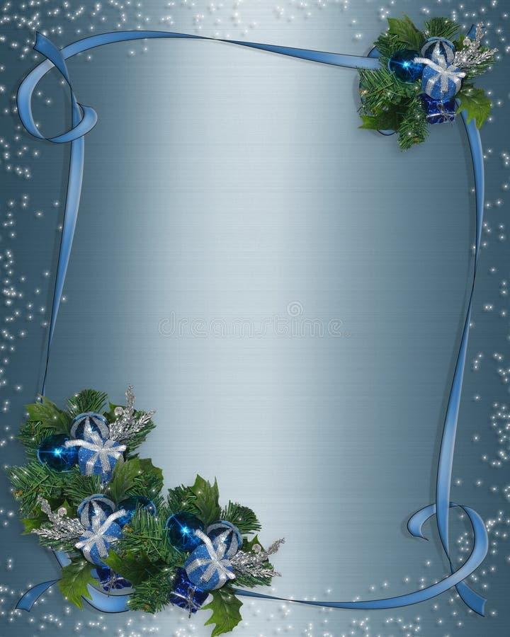 背景蓝色看板卡圣诞节闪闪发光 向量例证