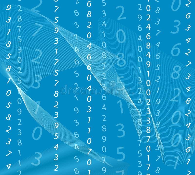 背景蓝色矩阵 向量例证