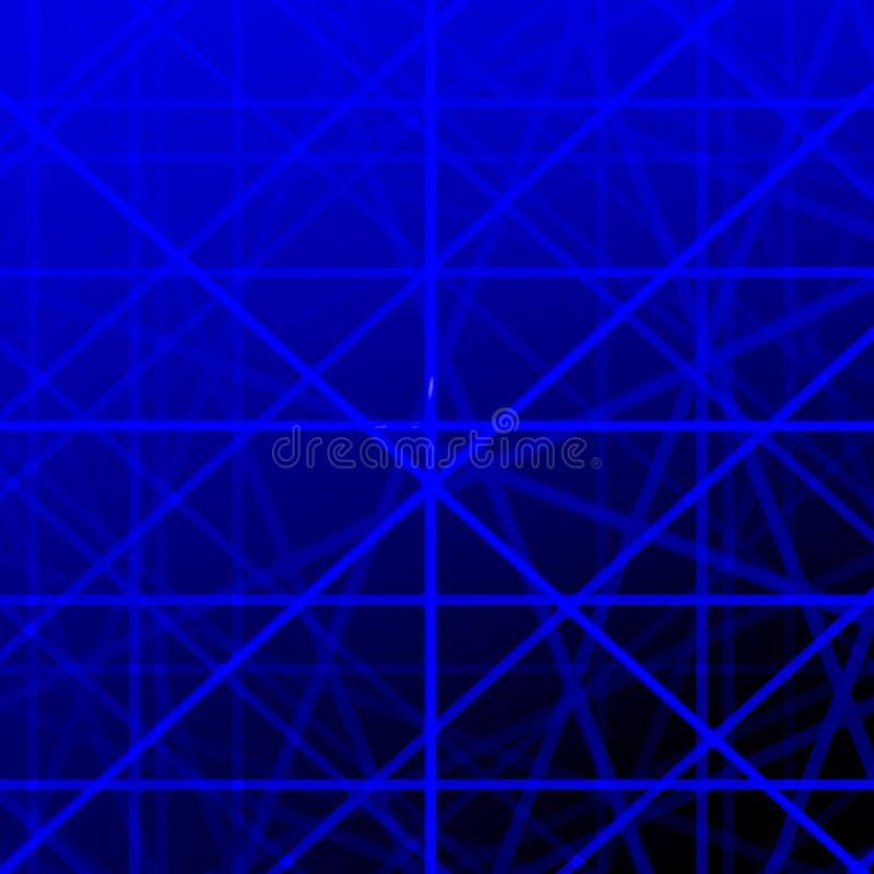 背景蓝色网格线 库存例证
