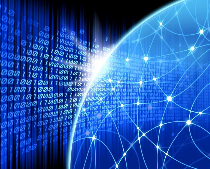 背景蓝色网络 向量例证