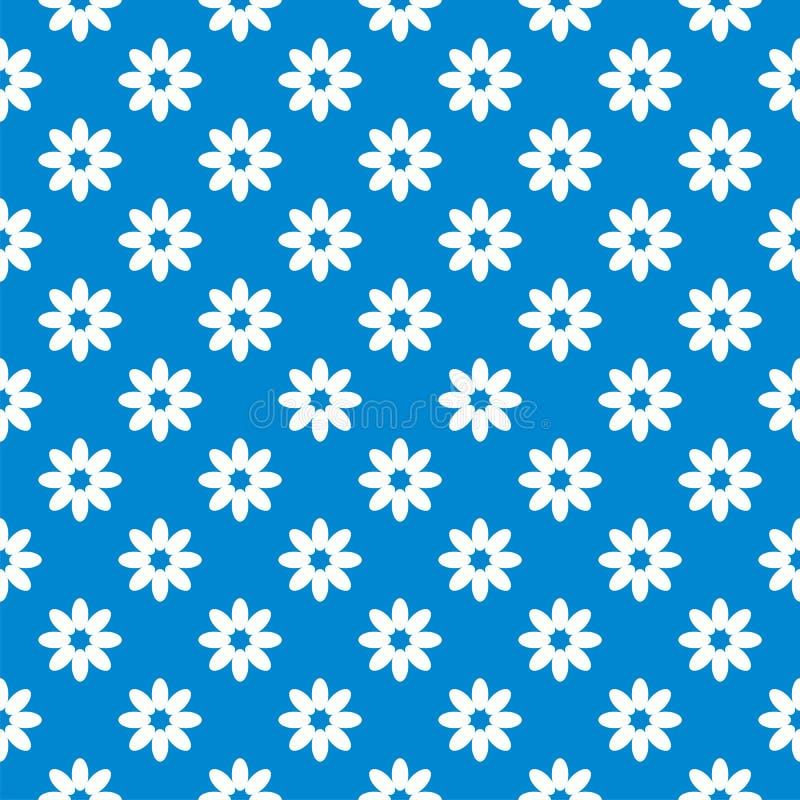 背景蓝色花卉无缝 库存例证