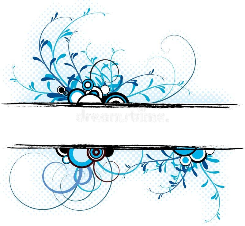 背景蓝色花卉 向量例证