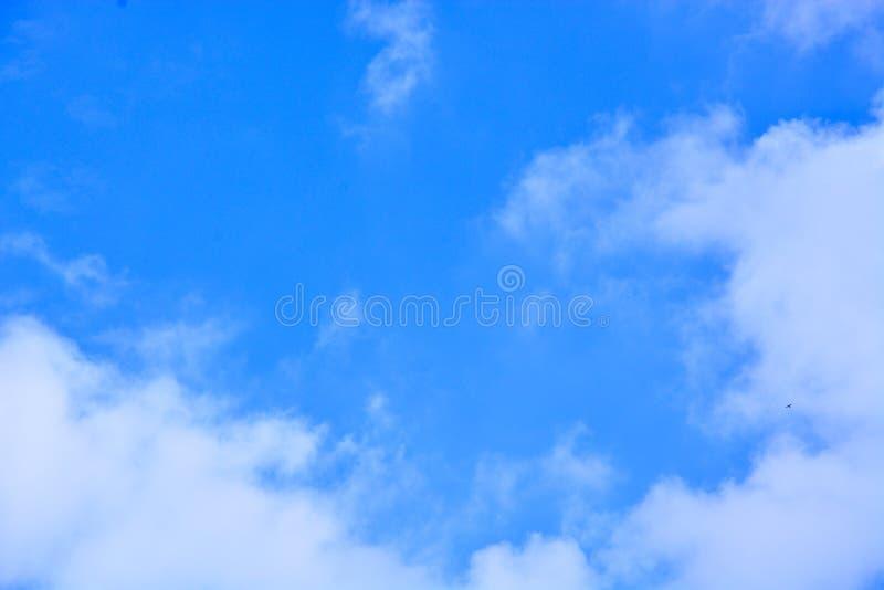 背景蓝色覆盖天空 免版税图库摄影