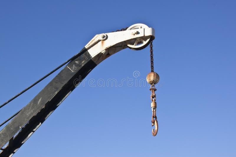 背景蓝色起重机升降机天空 免版税库存图片