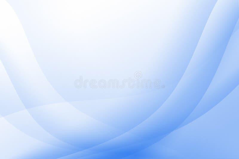 背景蓝色轻波浪 向量例证