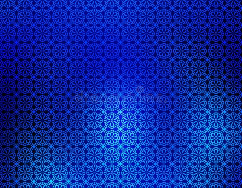 背景蓝色迷离几何墙纸 向量例证