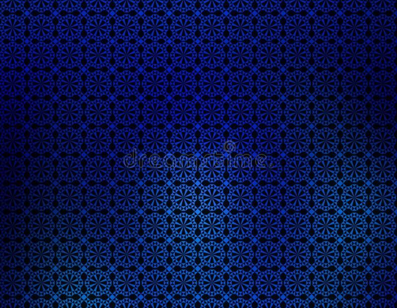 背景蓝色迷离黑暗的几何墙纸 皇族释放例证