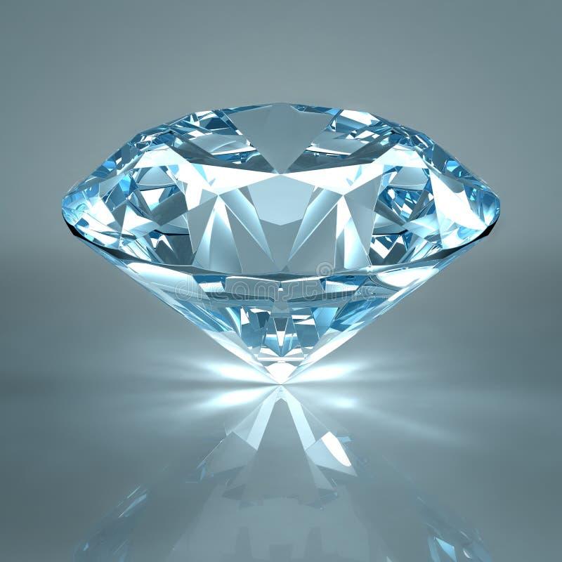 背景蓝色金刚石查出的珠宝光 向量例证