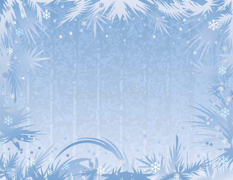 背景蓝色霜 向量例证