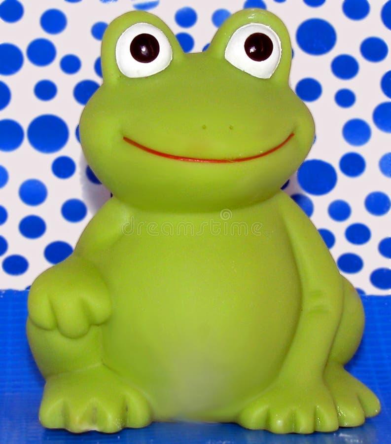 背景蓝色青蛙 免版税库存照片