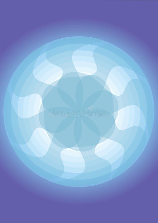 背景蓝色风扇模式 免版税图库摄影