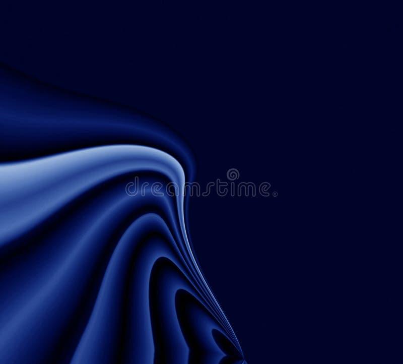 背景蓝色黑暗的帏帐 向量例证