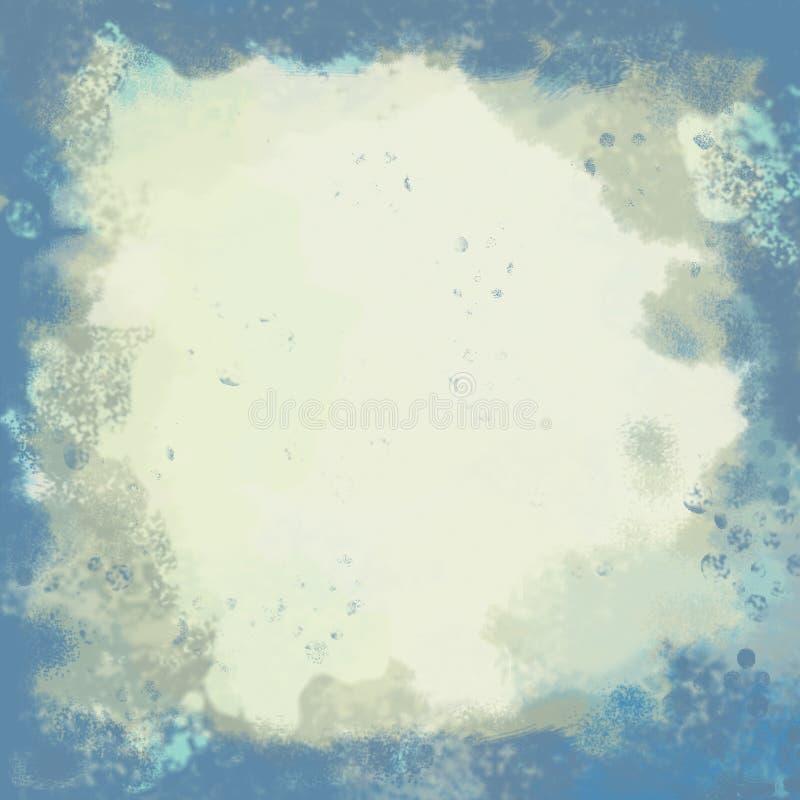 背景蓝色grunge棕褐色y 免版税库存照片