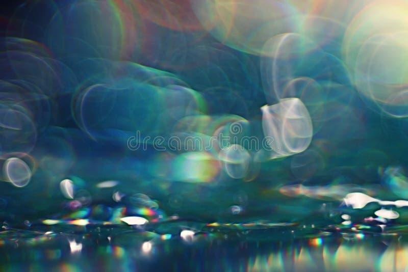 背景蓝绿色水 库存图片