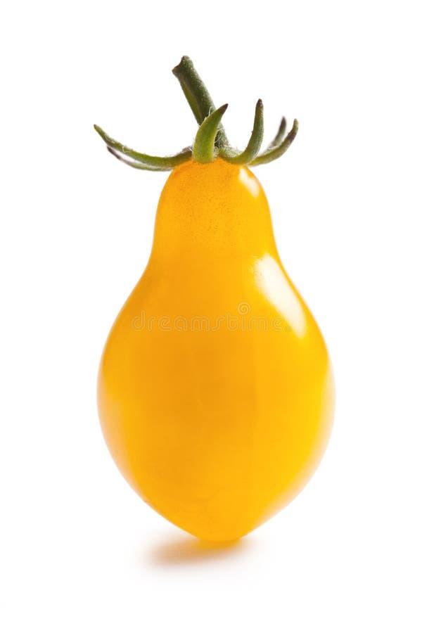 背景蕃茄空白黄色 免版税库存图片