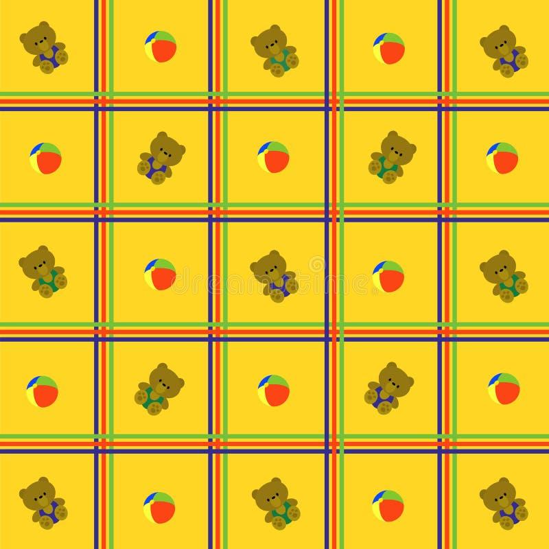 背景蜂窝电话玩具黄色 向量例证
