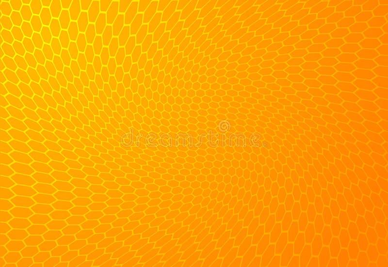 背景蜂蜜 皇族释放例证