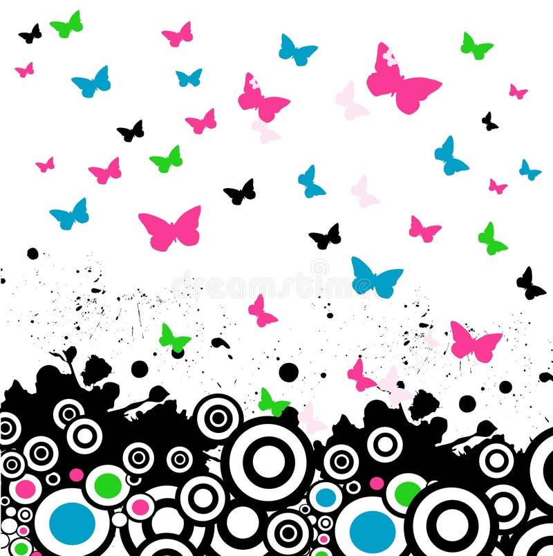 背景蝴蝶向量 皇族释放例证