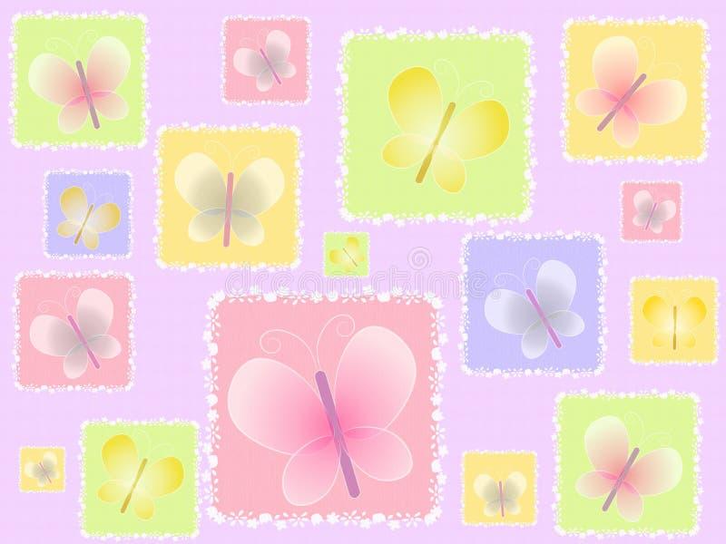 背景蝴蝶轻的春天 向量例证