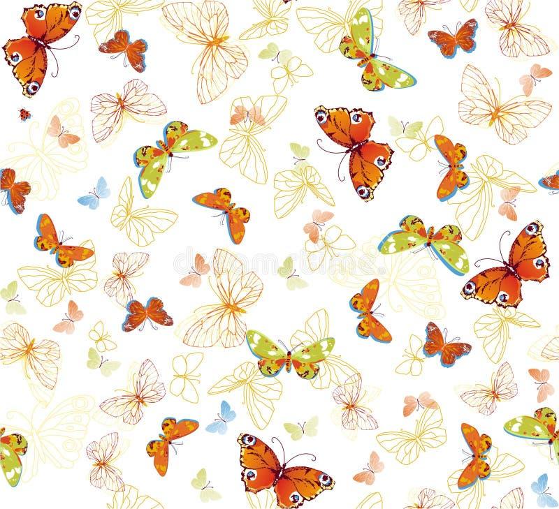背景蝴蝶 库存图片