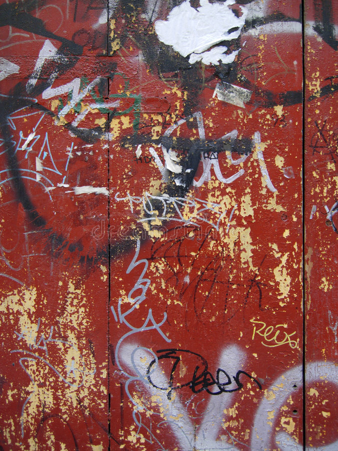 背景街道画grunge红色 图库摄影