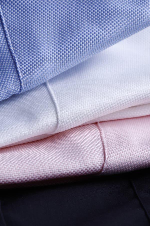 背景衬衣纺织品三 库存图片