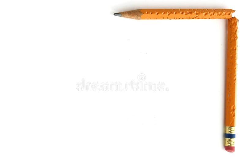 背景被中断的铅笔 免版税库存图片
