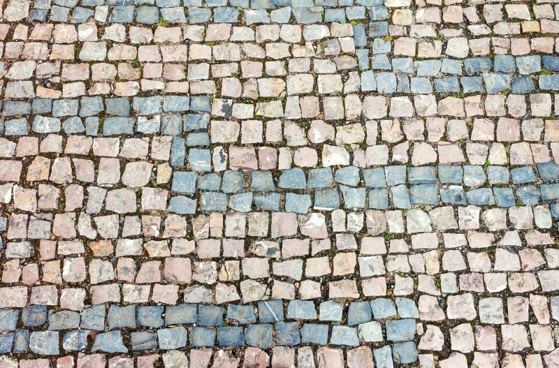 背景被修补的鹅卵石波兰方形纹理托伦 免版税库存照片