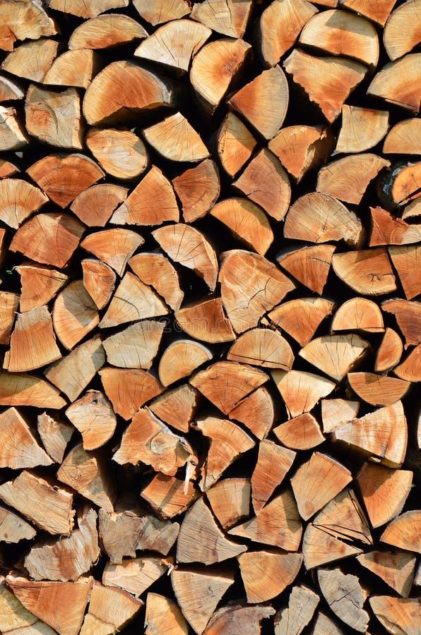 背景被堆积的木头 图库摄影