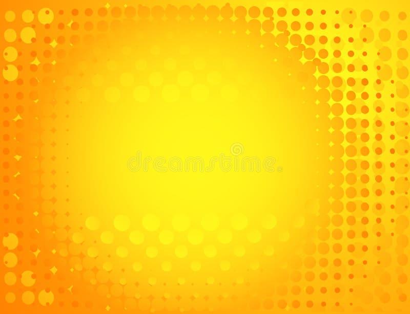 背景被察觉的黄色 向量例证